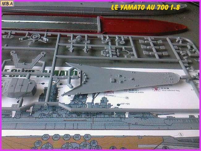 CONSTRUCTION DE LA MAQUETTE DU YAMATO AU 700 TAMIYA 713664Yamato8