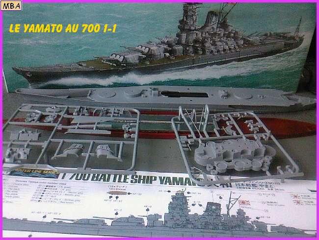 CONSTRUCTION DE LA MAQUETTE DU YAMATO AU 700 TAMIYA 714133Yamato1