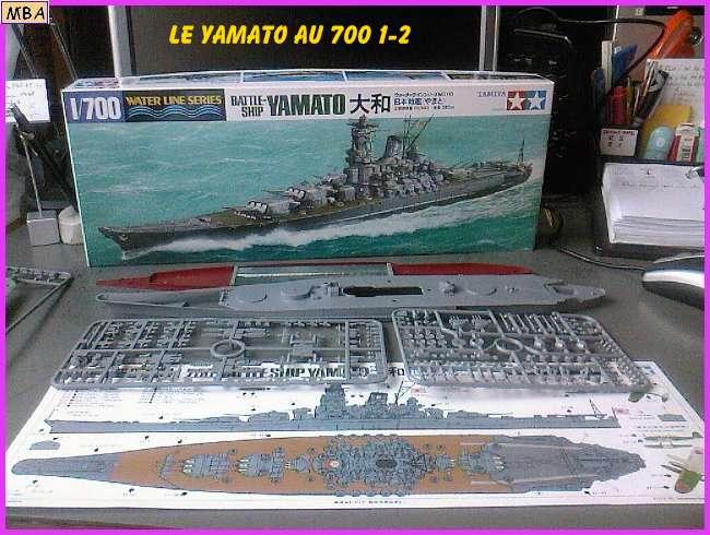 CONSTRUCTION DE LA MAQUETTE DU YAMATO AU 700 TAMIYA 774313Yamato2