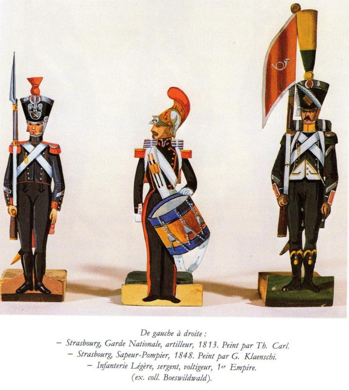 Chasseurs dans livre sur petit soldat en papier 8611883SoldatsPapierStrasbourgCollBoeswildwald