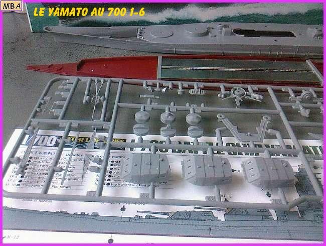 CONSTRUCTION DE LA MAQUETTE DU YAMATO AU 700 TAMIYA 907502Yamato6