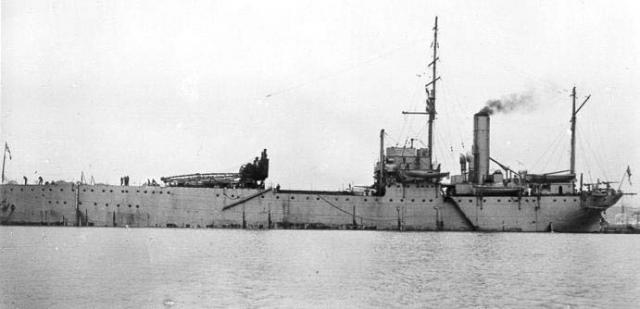ROYAL NAVY PORTE AVIONS HMS FURIOUS 91548Ark_Royal__1914_