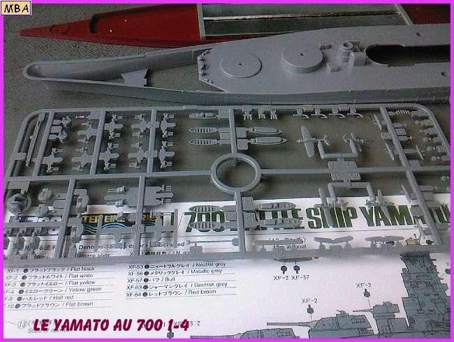 CONSTRUCTION DE LA MAQUETTE DU YAMATO AU 700 TAMIYA 944725Yamato4