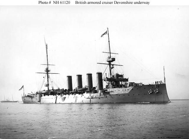 ROYAL NAVY CROISEURS LOURDS CLASSE COUNTY 130509Croiseur_cuirasse_HMS_Devonshire