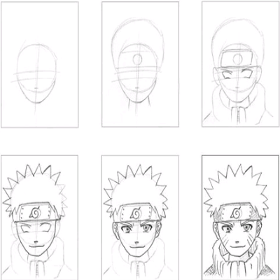 Apprendre a d ssinez - Naruto facile a dessiner ...