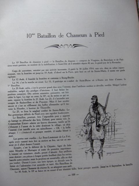 Edmond LAJOUX « Les Chasseurs à pied 1914 - 1918 » Extrait 17703HPIM6617