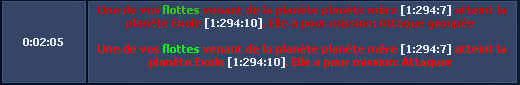 Décalage à la sonde 210088attaque8