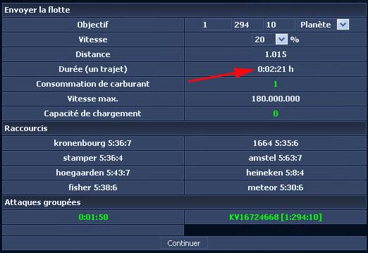 Décalage à la sonde 600740attaque5