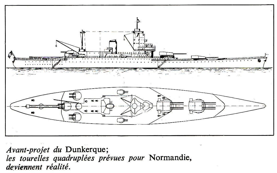 FRANCE CROISEURS DE BATAILLE CLASSE DUNKERQUE 607290Classe_Dunkerque_8