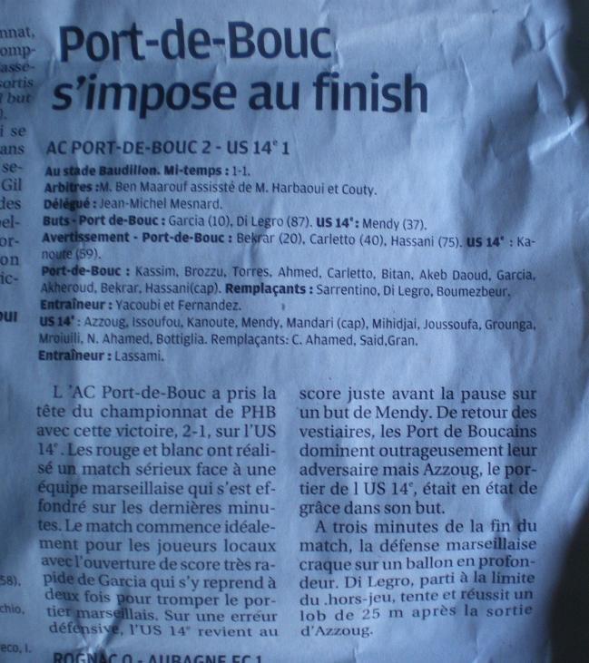 ATHLETIC CLUB  PORT DE BOUC ET SC PORT DE BOUC  / PHA PROVENCE  615986IMGP8979