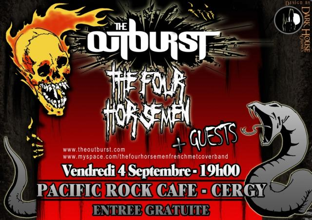 04.09 - The Outburst + The Four Horsemen @ Cergy (95) 644946Flyer2net