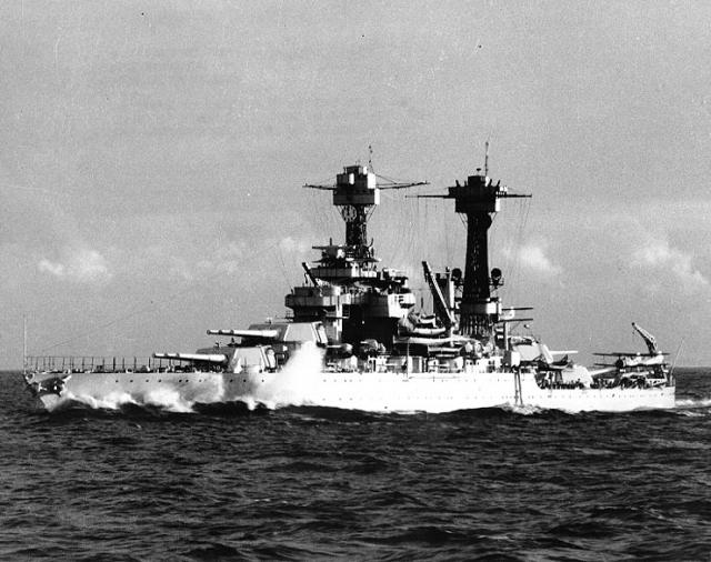 AICHI D3A VAL 709195USS_Tennessee_BB_43_underway