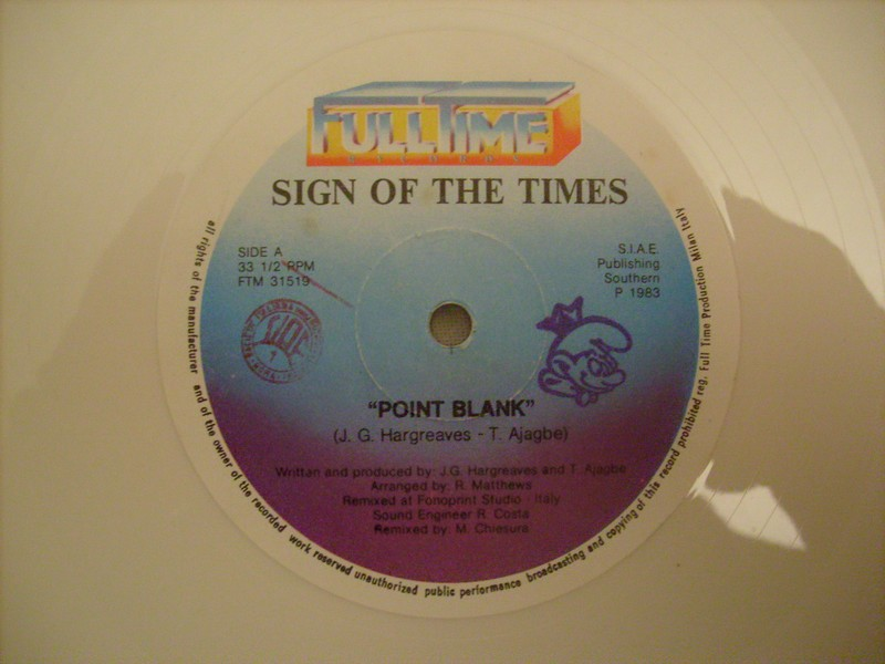 12'-SIGN OF THE TIMES-POINT BLANK-1983-FULL TIME REC 713818sign