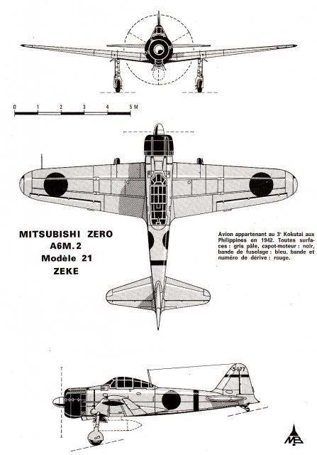 MITSUBISHI A6M ZEKE 764222A6M2_Type_21_9