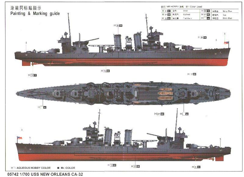 Le croiseur lourd USS New Orleans (CA-32) TRUMPETER au 1/700 780361Uss_new_orleans_CA_32_0_04