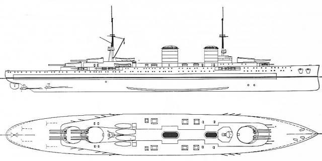 FRANCE CROISEURS DE BATAILLE CLASSE DUNKERQUE 814320Croiseur_de_bataille_Gilles_1913