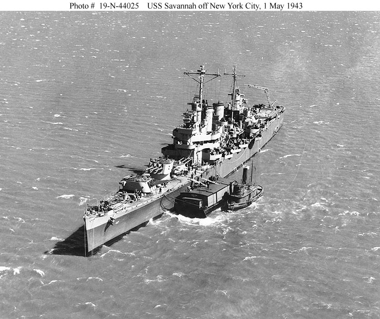 USN CROISEURS LEGERS CLASSE BROOKLYN 824221USS_Savannah_1943