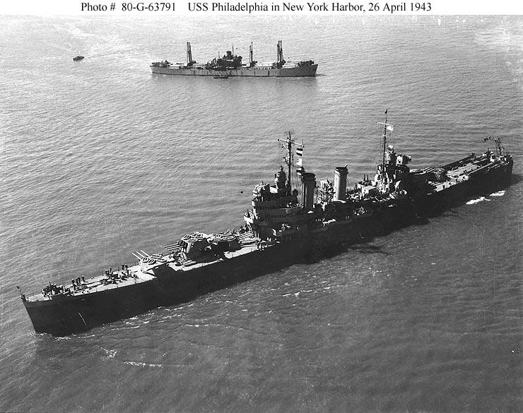 USN CROISEURS LEGERS CLASSE BROOKLYN 833126USS_Philadelphia_1943