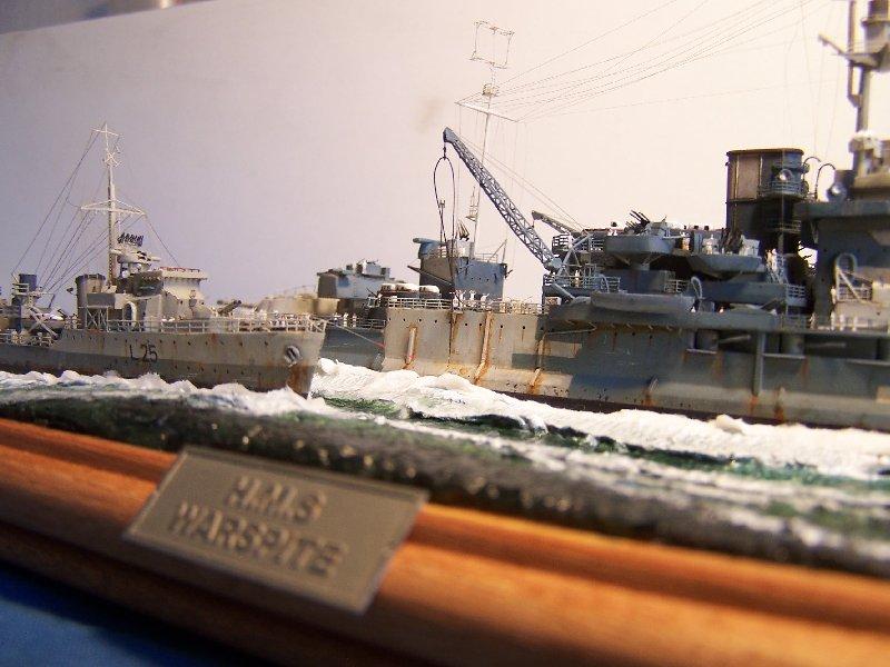 Un petit résumé de mon projet naval Airfix  1/600 839931hmswarspite126