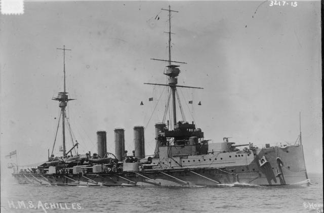 ROYAL NAVY CROISEURS LOURDS CLASSE COUNTY 842658Croiseur_cuirasse_HMS_Achilles_classe_Warrior