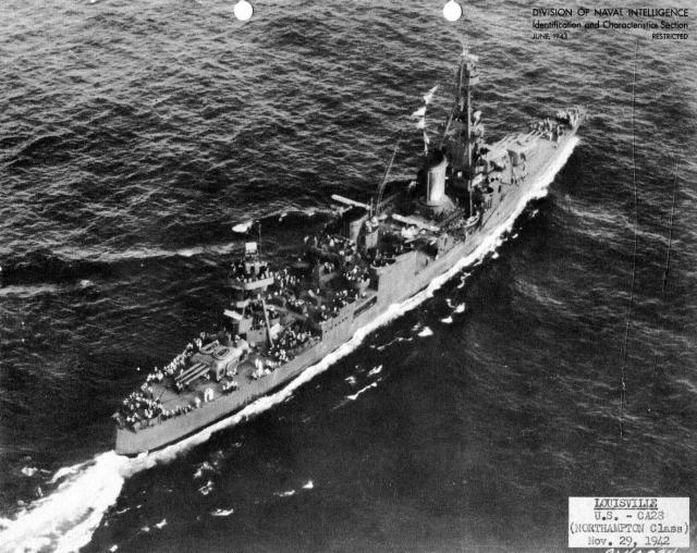 USN CROISEURS LOURDS CLASSE NORTHAMPTON 861680USS_Louisville_1942