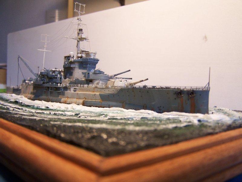 Un petit résumé de mon projet naval Airfix  1/600 86943hmswarspite125