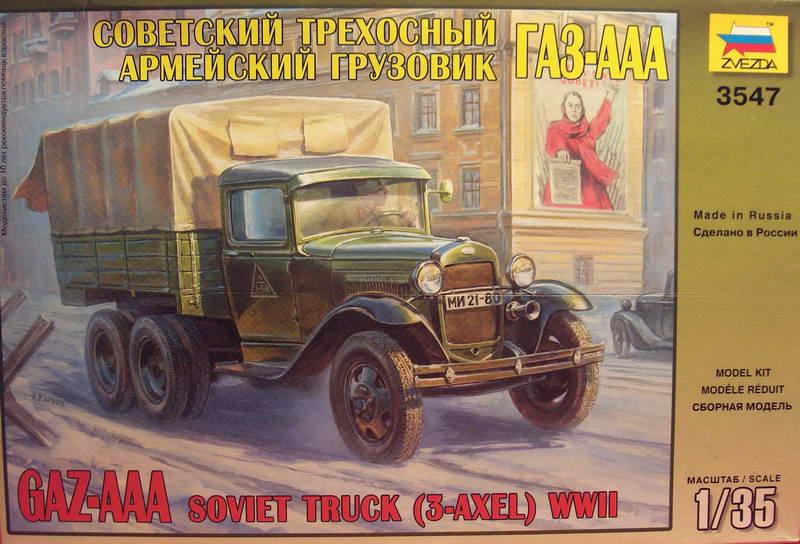 Camion militaire Russe GAZ-AAA  (3-Axel)WWII  Zvezda 1/35 87097GAZ_AAA_Soviet_Truck