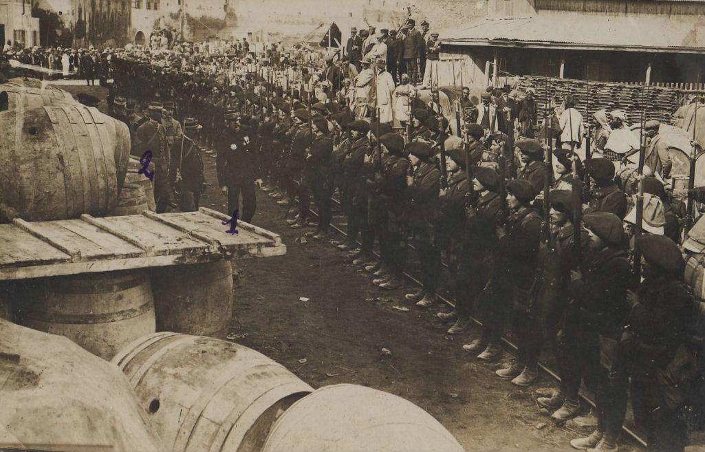 14e Bataillon de Chasseurs 96698014bcamaroc1913debarquement