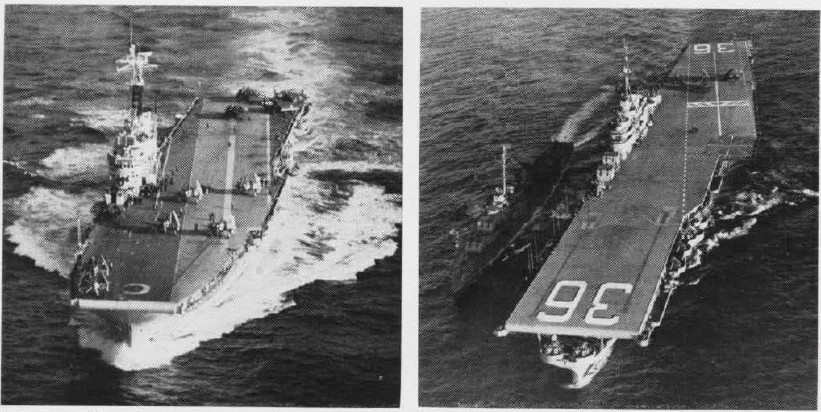 ROYAL NAVY PORTE-AVIONS CLASSE CENTAUR 983549HMS_Centaur_et_USS_Antietam