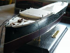 RMS Lusitania (Deluxe Model) - 1:350 - Gunze Sangyo Mini_288769DSCF0853