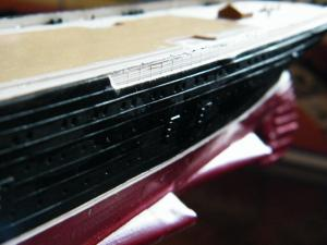 RMS Lusitania (Deluxe Model) - 1:350 - Gunze Sangyo Mini_647001DSCF0859