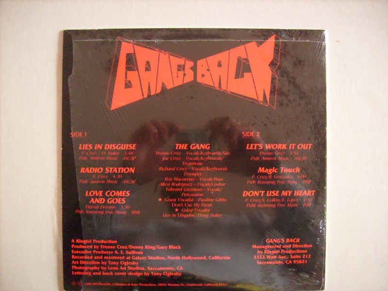 LP-GANGS BACK-LIES IN DISGUISE-1985-AKO REC 10543gan4
