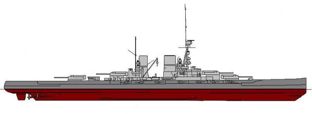 ROYAL NAVY CROISEUR DE DE BATAILLE HMS HOOD 125329Mackensen_line_color