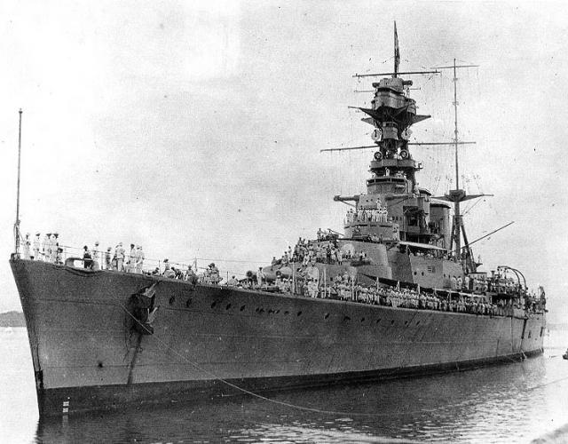 ROYAL NAVY CROISEUR DE DE BATAILLE HMS HOOD 149358HMS_Hood_Canal_de_Panama_juillet_1924