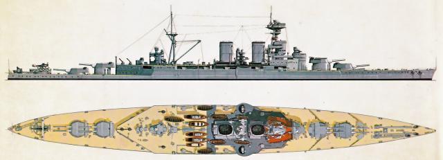 ROYAL NAVY CROISEUR DE DE BATAILLE HMS HOOD 340787HMS.Hood_1931