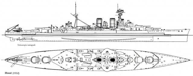 ROYAL NAVY CROISEUR DE DE BATAILLE HMS HOOD 344583HMS.Hood_3