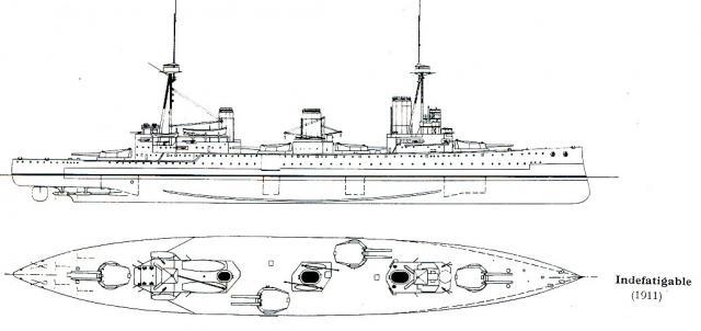 ROYAL NAVY CROISEUR DE DE BATAILLE HMS HOOD 355596CB_classe_Indefatigable