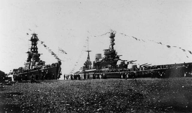 ROYAL NAVY CROISEUR DE DE BATAILLE HMS HOOD 363337HMS_Hood_et_HMS_Repulse_Colombie_Britannique_1924