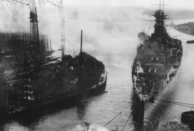 ROYAL NAVY CROISEUR DE DE BATAILLE HMS HOOD 408011HMS_Hood_Clyde_janvier_1920