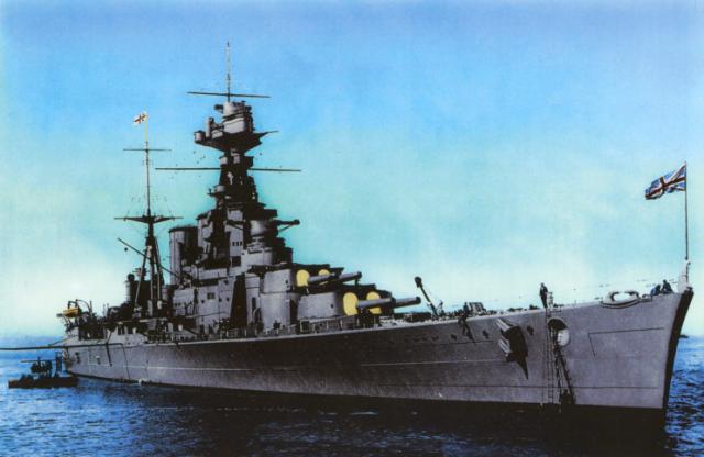 ROYAL NAVY CROISEUR DE DE BATAILLE HMS HOOD 432260HMS_Hood_en_couleur