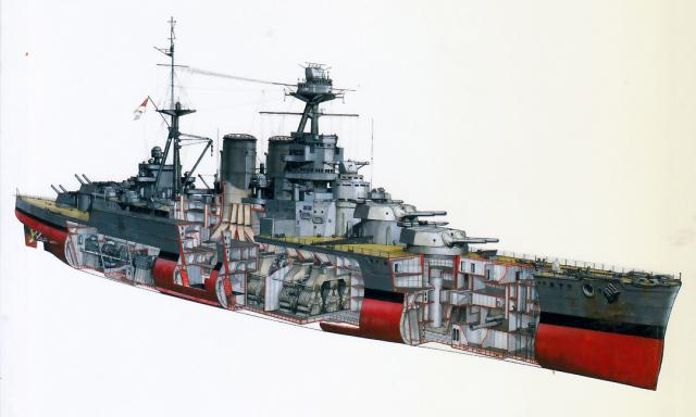 ROYAL NAVY CROISEUR DE DE BATAILLE HMS HOOD 439463HMS.Hood_15