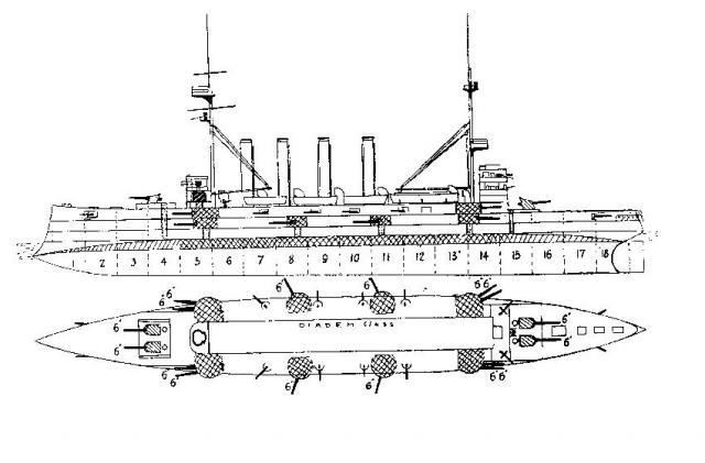 ROYAL NAVY CROISEUR DE DE BATAILLE HMS HOOD 543810Croiseurs_cuirasses_classe_Diadem