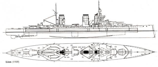ROYAL NAVY CROISEUR DE DE BATAILLE HMS HOOD 5749CB_classe_Lion