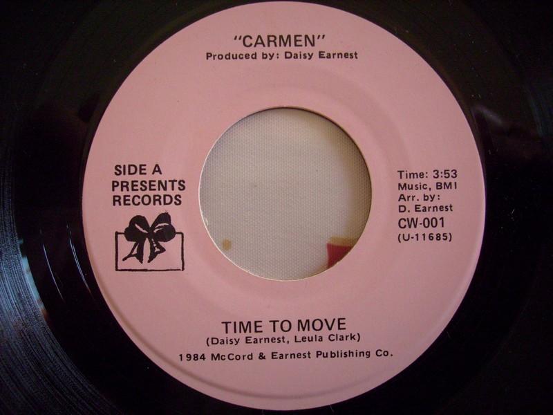 7'-CARMEN-TIME TO MOVE-1984-PRESENTS REC 576097carmen