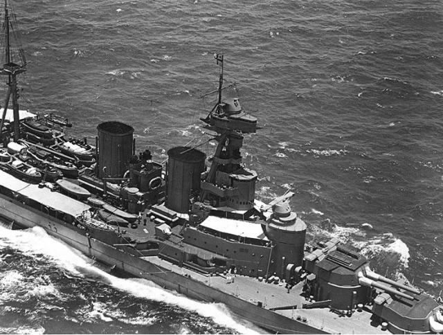 ROYAL NAVY CROISEUR DE DE BATAILLE HMS HOOD 665879HMS_Hood_12061924_Honolulu_2