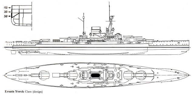 ROYAL NAVY CROISEUR DE DE BATAILLE HMS HOOD 694137CB_classe_Ersatz.Yorck