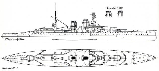 ROYAL NAVY CROISEUR DE DE BATAILLE HMS HOOD 717651CB_classe_Renown