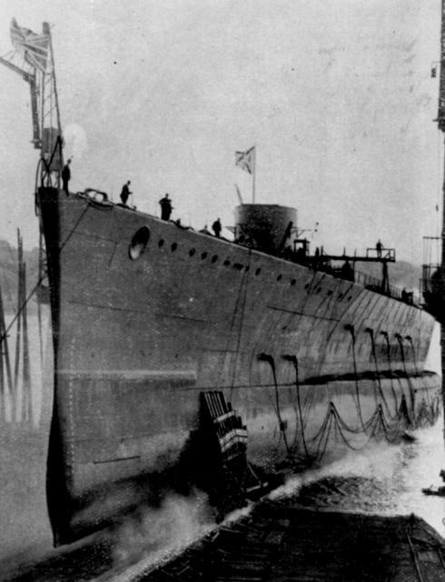 ROYAL NAVY CROISEUR DE DE BATAILLE HMS HOOD 762483HMS_Hood_lancement