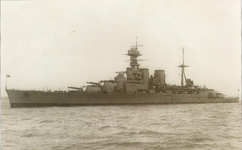 ROYAL NAVY CROISEUR DE DE BATAILLE HMS HOOD 820644HMS_Hood_1ere_photo_historique