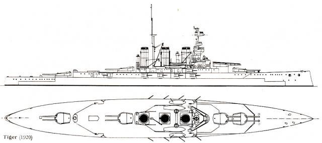 ROYAL NAVY CROISEUR DE DE BATAILLE HMS HOOD 926249CB_classe_Tiger